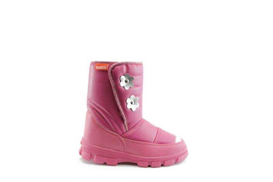 Детски ботуши - висококачествена еко-кожа - розови - EO-7631