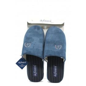 Мъжки чехли - висококачествен текстилен материал - сини - ДФ TATTICO2 син