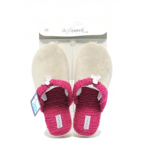 Детски чехли - висококачествен текстилен материал - бежови - EO-7461