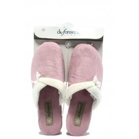 Дамски чехли - висококачествен текстилен материал - розови - EO-7506