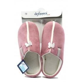 Дамски чехли - висококачествен текстилен материал - розови - EO-7502