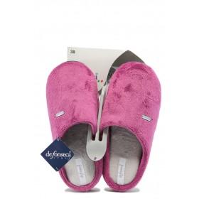 Дамски чехли - висококачествен текстилен материал - розови - EO-7508