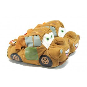 Детски чехли - висококачествен текстилен материал - кафяви - EO-7519