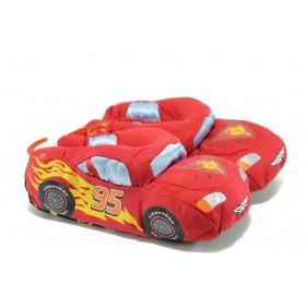 Детски чехли - висококачествен текстилен материал - червени - EO-7520