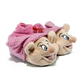 Детски чехли - висококачествен текстилен материал - розови - EO-7522