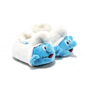 Детски чехли - висококачествен текстилен материал - сини - EO-7524