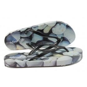 Джапанки - висококачествен pvc материал - черни - EO-6220