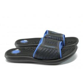 Мъжки чехли - висококачествен pvc материал - черни - EO-6399