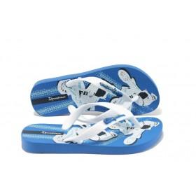 Детски чехли - висококачествен pvc материал - сини - EO-4533