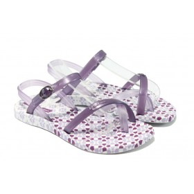 Детски сандали - висококачествен pvc материал - лилави - EO-6439