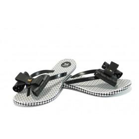 Дамски чехли - висококачествен pvc материал - черни - EO-6448