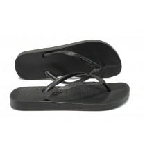Дамски чехли - висококачествен pvc материал - черни - EO-8609
