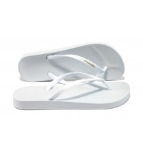 Дамски чехли - висококачествен pvc материал - бели - EO-6428