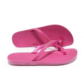 Дамски чехли - висококачествен pvc материал - розови - EO-6435
