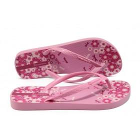 Дамски чехли - висококачествен pvc материал - розови - EO-6442