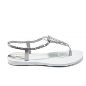Дамски сандали - висококачествен pvc материал - бели - EO-6470
