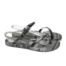 Дамски сандали - висококачествен pvc материал - черни - EO-6457