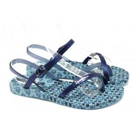 Дамски сандали - висококачествен pvc материал - сини - EO-6458