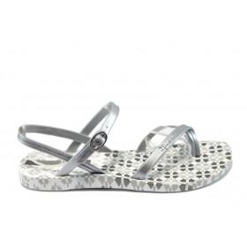 Дамски сандали - висококачествен pvc материал - сиви - EO-6471