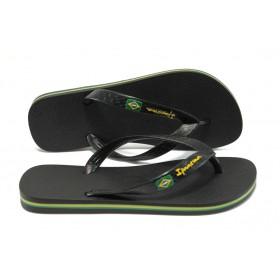 Джапанки - висококачествен pvc материал - черни - EO-6445