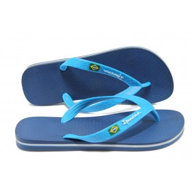 Джапанки - висококачествен pvc материал - сини - EO-4530