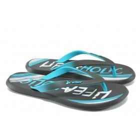 Мъжки чехли - висококачествен pvc материал - сини - EO-4545