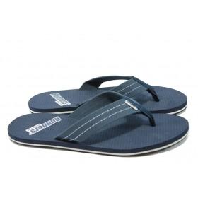 Джапанки - висококачествен текстилен материал - сини - РС 79124 син