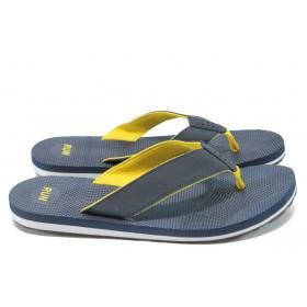 Джапанки - висококачествен текстилен материал - сини - РС 151-99056 син