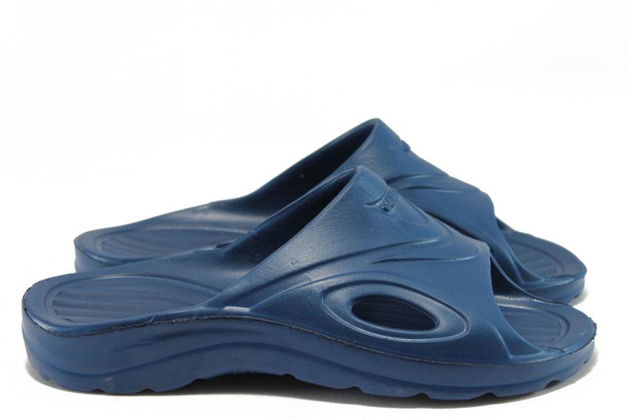 Мъжки чехли - висококачествен pvc материал - сини - EO-8664