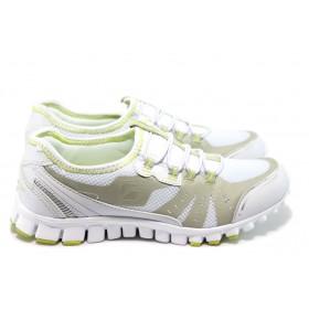 Юношески маратонки - висококачествен текстилен материал - бели - EO-5944