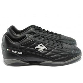 Спортни мъжки обувки - висококачествена еко-кожа - черни - EO-6146