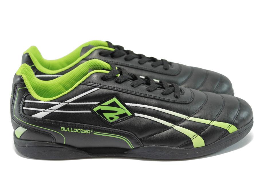 Мъжки маратонки - висококачествена еко-кожа - черни - EO-8470