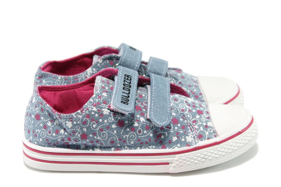 Детски маратонки - висококачествен текстилен материал - сиви - EO-8128