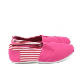Детски обувки - висококачествен текстилен материал - розови - EO-6150