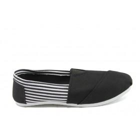 Детски обувки - висококачествен текстилен материал - черни - EO-6161
