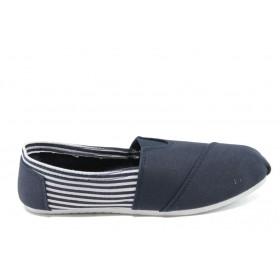 Детски обувки - висококачествен текстилен материал - сини - EO-6162