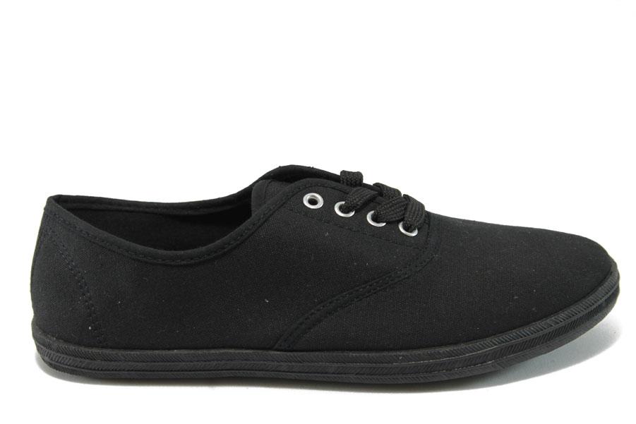 Юношески маратонки - висококачествен текстилен материал - черни - EO-8129