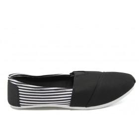 Спортни мъжки обувки - висококачествен текстилен материал - черни - EO-6153