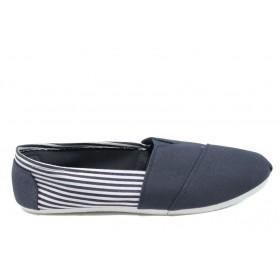 Спортни мъжки обувки - висококачествен текстилен материал - тъмносин - EO-6163