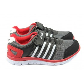 Детски маратонки - висококачествен текстилен материал - черни - EO-6232