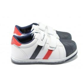 Детски маратонки - висококачествена еко-кожа - бели - EO-6238
