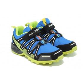Детски маратонки - висококачествен текстилен материал - сини - EO-6373