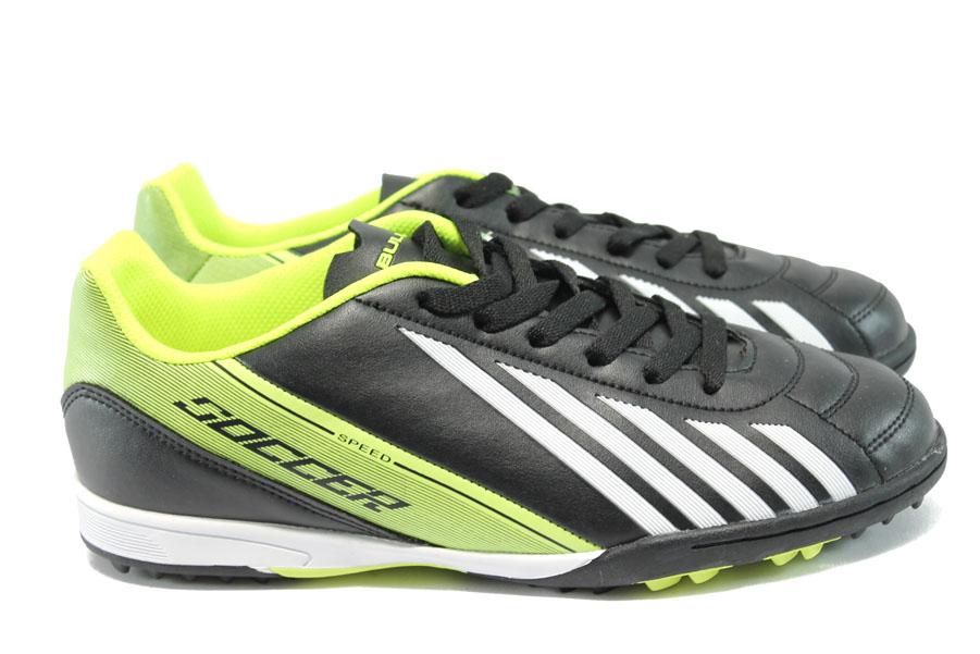 Спортни мъжки обувки - висококачествена еко-кожа - зелени - EO-6377