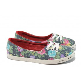 Равни дамски обувки - висококачествен текстилен материал - черни - EO-6632