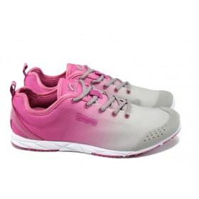 Юношески маратонки - висококачествен текстилен материал - розови - РС 13-06 сив-розов