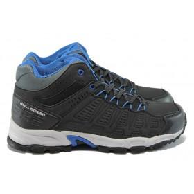 Мъжки обувки - висококачествена еко-кожа - черни - EO-7815
