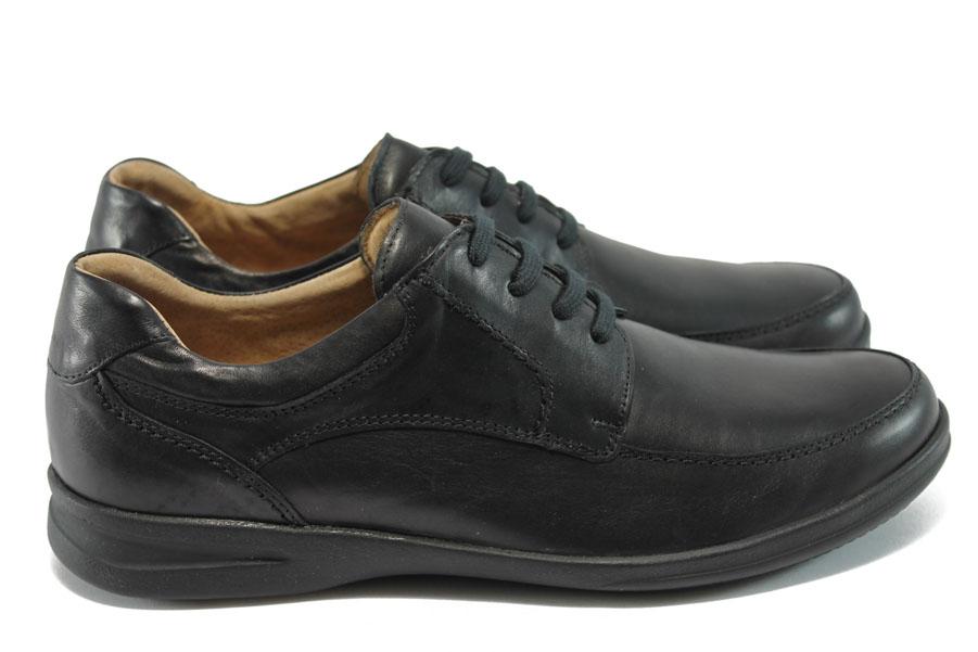 Мъжки обувки - естествена кожа - черни - EO-6290