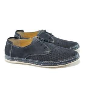 Мъжки обувки - естествена кожа - сини - EO-6602