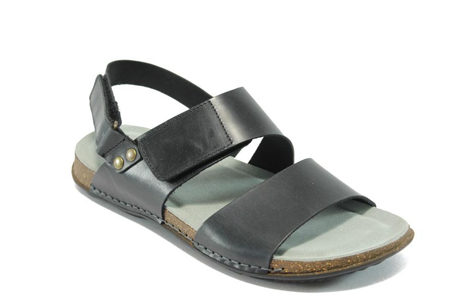 25b6d3cfa2b Мъжки сандали - естествена кожа - черни - EO-6594