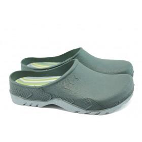 Мъжки чехли - висококачествен pvc материал - зелени - EO-6633